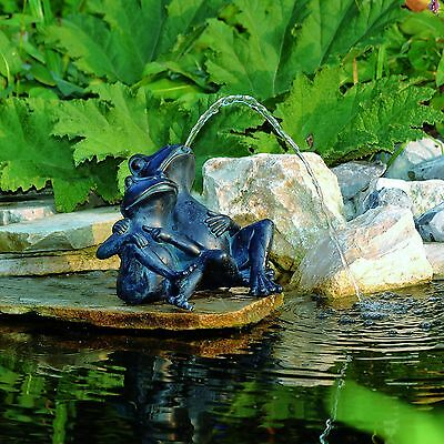 Gargoyle FROG FROGS pond garden figure Fountain Decoration
