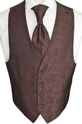 Wedding Waistcoat with Plastron, Handkerchief, Tie, Fitted nr.23.7 Size 44-114