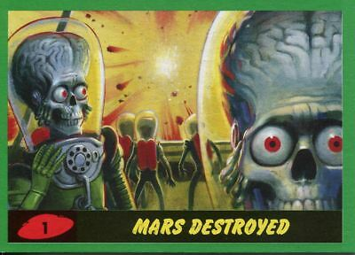 Mars Attacks The Revenge 2017 Complete 55 Card Green Parallel Base Set