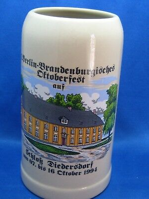 "Big 7 3/4"" German Beer Stein Mug ""1.01 KO"" Engraved w/handle Oktoberfest"