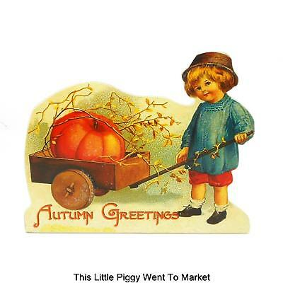 "Bethany Lowe Designs - ""Autumn Greeting"" Thanksgiving Dummy Board / Stand-Up"