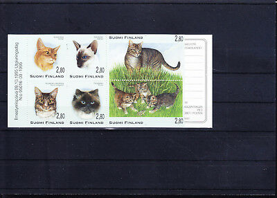 054434 Katzen Cats Suomi Finland 1310-15 Booklet MH ** MNH Year 1995