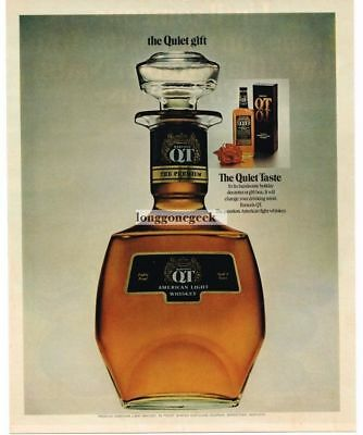 "1972 Barton's QT American Light Whiskey ""The Quiet Gift""  Vtg. Print Ad"