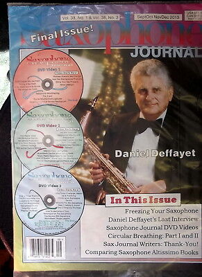 Saxophone Journal Volume 38, The Final Issue, Includes 3 Dvd's, New