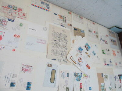 Nystamps British Australia large old stamp cover FDC collection with better