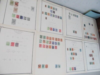 Nystamps British South Australia old stamp collection Scott album page