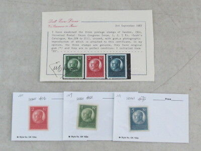 Nystamps Sweden # 209 # 210 # 211 top value stamp collection with certificate