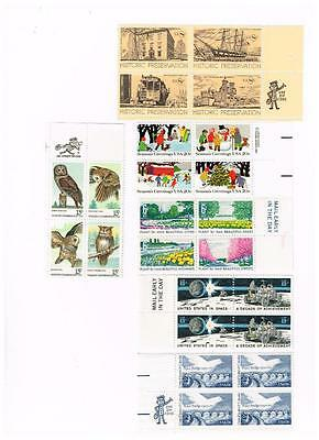 Various USPS 4 Block Sets MNH various denominations FV$2.80