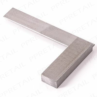 "HEAVY DUTY 4"" ENGINEER'S SQUARE Solid Steel Precision Measuring Tool Wood/Metal"