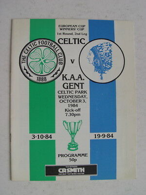 Celtic v Gent 1984/85 Cup Winners Cup