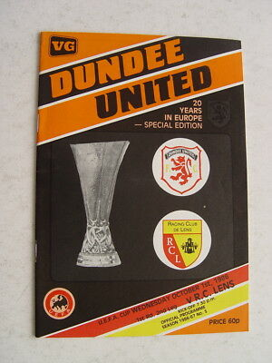 Dundee United v Lens 1986/87 UEFA Cup 20 Years in Europe