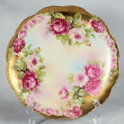 Royal Vienna Plate - Plate #1 Roses With Lots Of Gilding
