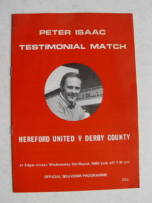 Hereford United v Derby County 1980 Peter Isaac