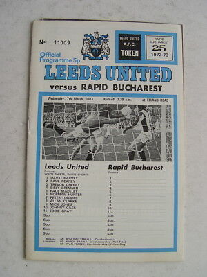 Leeds United v Rapid Bucharest 1972/73 Cup Winners Cup