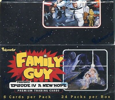 Family Guy Star Wars A New Hope Factory Sealed Trading Card Hobby Box