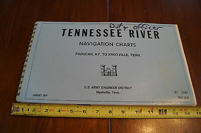 Tennessee River Navigation Charts 1979 Maps Duty Officer Paducah to Knoxville