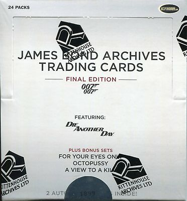 James Bond Archives 2017 Factory Sealed Trading Card Hobby Box
