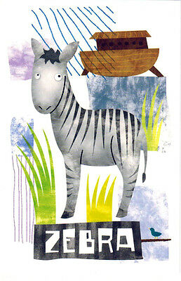 "DRAWING ""ZEBRA"" Modern Russian postcard"