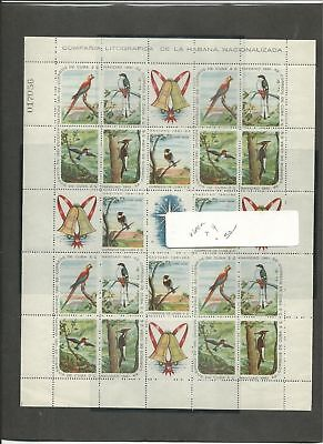 Caribbean Island Christmas, Birds, Butterflies #690-700a Mint NH, 6 Pages