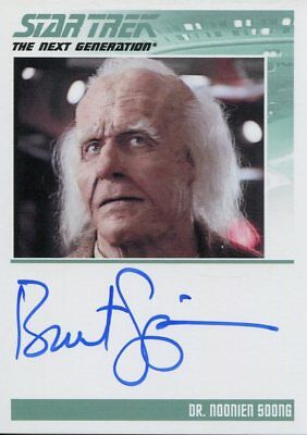 Star Trek The Complete Next Generation Series 2 Autograph Brent Spiner