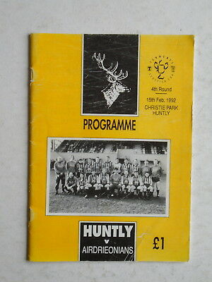 Huntly v Airdrieonians 1991/92 Scottish Cup