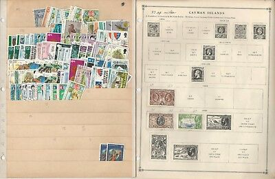 Cayman Islands 1900-1993 Collection on 30 Scott International Pages