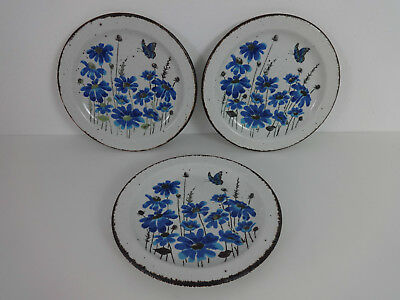 """Stonehenge Midwinter Spring Small Side Plate 7"""" Wedgwood Butterfly detail x 3"""