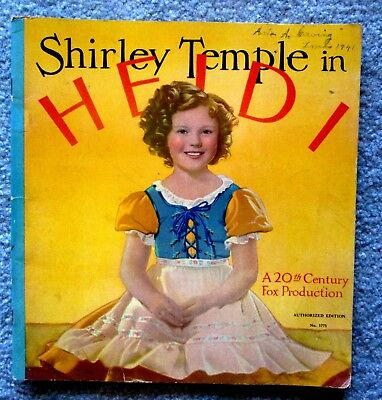 Shirley Temple in Heidi 1937 20th Century Fox Movie Promotional Book lsc12