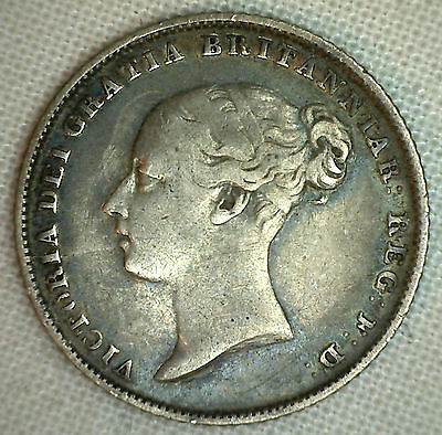 1845 UK Silver 6 Pence Sixpence Great Britain Tanner Coin You Grade It