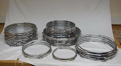 Job Lot of 29 Used / Old Drum Hoops - Various Sizes