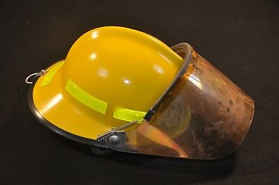 Morning Pride Lite Force Fire Helmet Forestry Adjustable; missing liner, good+