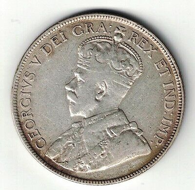 Newfoundland 1918C 50 Cents King George V Canadian Sterling Silver Coin
