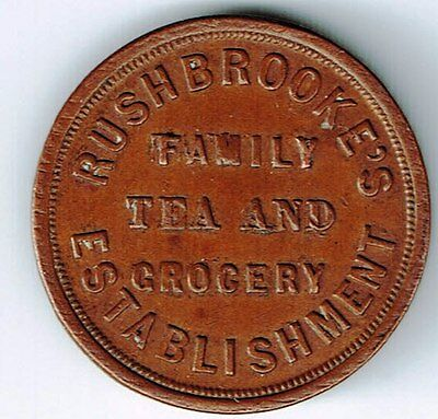 1844 Rushbrooke's Family Tea & Grocery Establishment Let Willenhall Flourish