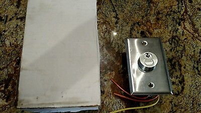 General Fasteners Momentary Contact Key Switch & Stainless Cover