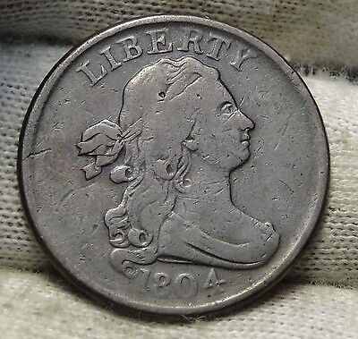 1804 Draped Bust Half Cent - Nice Coin, Free Shipping  (5547)