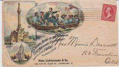 CIVIL WAR Grand Army of the Republic 35th National Encampment  Cover AUG 21 1901