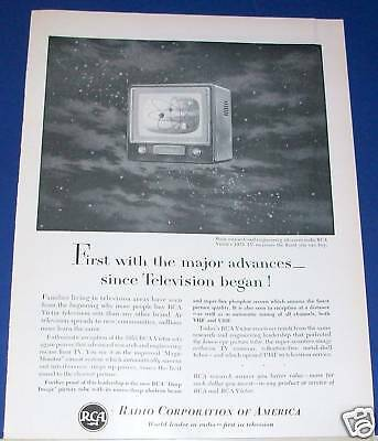 1953 RCA Victor TV receivers advanced research Ad