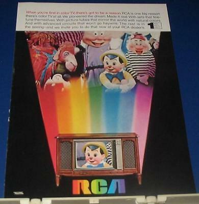 1968 RCA Television Ad 1st in color TV