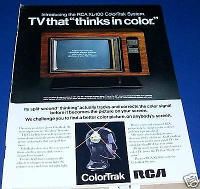 1975 RCA ColorTrak Television Ad thinks in color