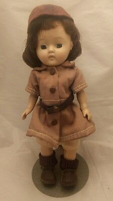 "Vintage 8"" Ginger doll wearing Terri Lee Brownie outfit eyes open/close"