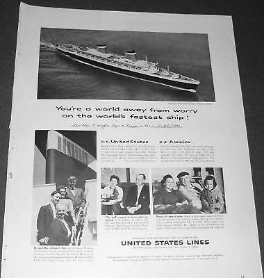 1959 United States Lines Cruise Ship passengers Ad