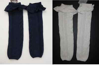 NWT Matilda Jane Friends Forever knit sweater leg warmers ruffles Navy or Cream