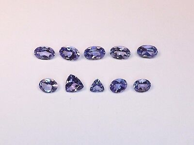 Mixed Lot of Very Fine Tanzanite from scrap gold silver jewelry