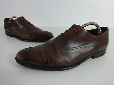 Paul Smith Mens Shoes Size 9 Designer Brown Leather Lace Up Smart Oxford EUR 43