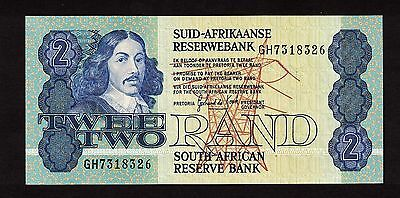 SOUTH AFRICA (1981-83) 2 RAND NOTE SIGNATURE 6 WITH SECURITY THREAD CHUNC P-118c