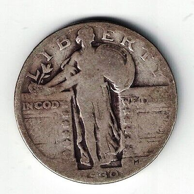 1930 Standing Liberty 25 Cents Quarter Dollar Silver Coin Philadelphia Mint