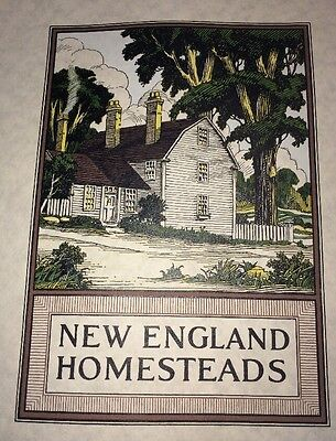 New England Homesteads Incredible   Cover Design Graphic  Art 1923