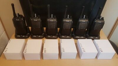 Qty 6 Icom IC-F4002 UHF Portable Radio & Charger Suit Taxi Security Farm Shoot