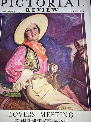 Pretty Girl Art Cowgirl 1931 Pictorial Review 1931 McCelland Barclay Wall Art