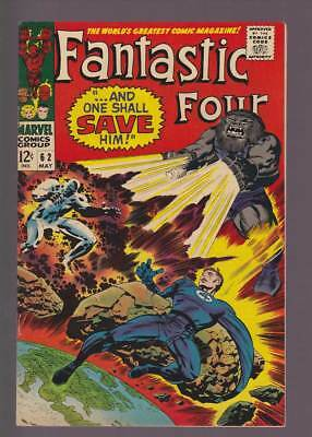 Fantastic Four # 62  ...And One Shall Save Him !  grade 8.0 scarce book !